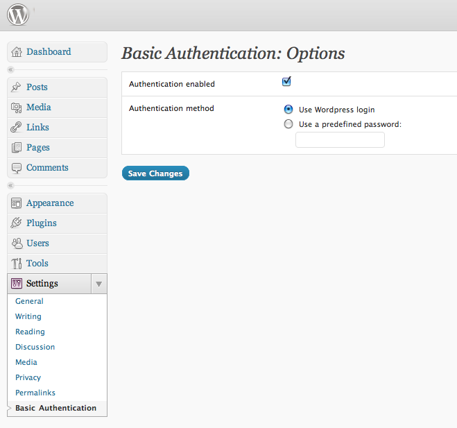 Basic authentication plugin